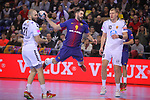 VELUX EHF 2017/18 EHF Men's Champions League Group Phase - Round 11.<br /> FC Barcelona Lassa vs HC Vardar: 29-28.<br /> Joan Ca&ntilde;ellas, Raul Entrerrios &amp; Dainis Kristopans.