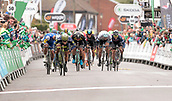 8th September 2017, Newmarket, England; OVO Energy Tour of Britain Cycling; Stage 6, Newmarket to Aldeburgh; EWAN Caleb of Orica-Scott sprints for the finish line to win Stage 6 of The Tour of Britain