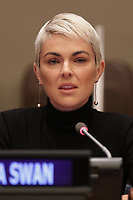 Serinda Swan At UN Panel Discussion