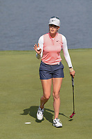 Michelle Wie (USA) sinks her eagle putt on 7 during round 4 of the 2018 KPMG Women's PGA Championship, Kemper Lakes Golf Club, at Kildeer, Illinois, USA. 7/1/2018.<br /> Picture: Golffile | Ken Murray<br /> <br /> All photo usage must carry mandatory copyright credit (&copy; Golffile | Ken Murray)