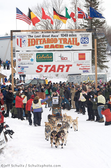 Rick Holt Willow restart Iditarod 2008.