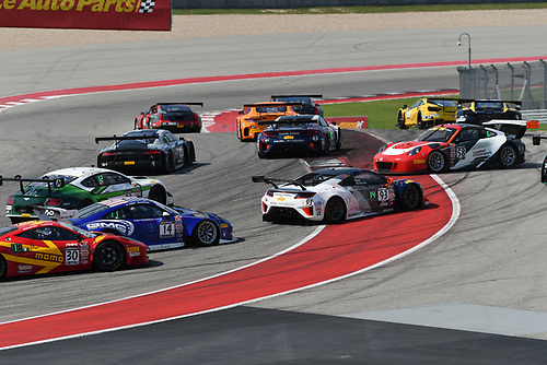 Pirelli World Challenge<br /> Grand Prix of Texas<br /> Circuit of The Americas, Austin, TX USA<br /> Saturday 2 September 2017<br /> Peter Kox/ Mark Wilkins, Patrick Long/Joerg Bergmeister<br /> World Copyright: Richard Dole/LAT Images<br /> ref: Digital Image RD_COTA_PWC_17226