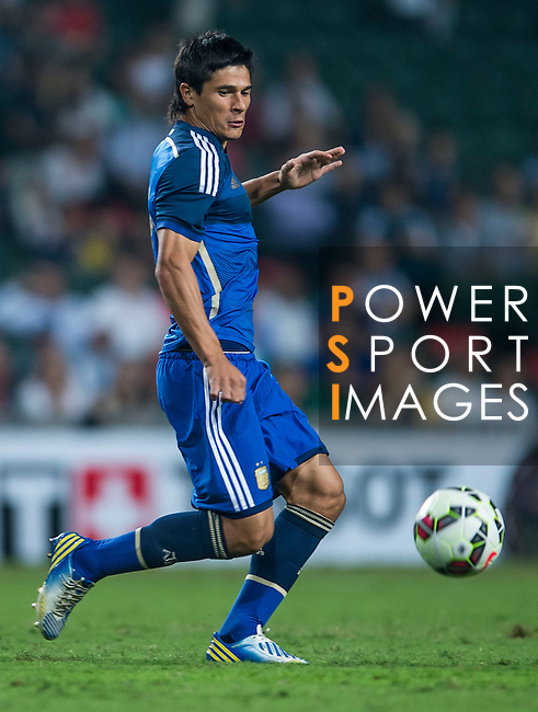 Facundo Roncaglia of Argentina in action during the HKFA Centennial Celebration Match between Hong Kong vs Argentina at the Hong Kong Stadium on 14th October 2014 in Hong Kong, China. Photo by Aitor Alcalde / Power Sport Images