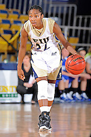 28 November 2010:  FIU guard Jerica Coley (22) handles the ball in the second half as the FIU Golden Panthers defeated the Indiana State Sycamores, 68-47, to win the 16th annual FIU Thanksgiving Classic at the U.S. Century Bank Arena in Miami, Florida.