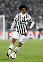 Calcio, andata degli ottavi di finale di Champions League: Juventus vs Bayern Monaco. Torino, Juventus Stadium, 23 febbraio 2016. <br /> Juventus' Juan Cuadrado in action during the Champions League round of 16 first leg soccer match between Juventus and Bayern at Turin's Juventus Stadium, 23 February 2016.<br /> UPDATE IMAGES PRESS/Isabella Bonotto