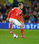 Aaron Ramsey of Wales during the FIFA World Cup Qualifying match at the Cardiff City Stadium, Cardiff. Picture date: November 12th, 2016. Pic Robin Parker/Sportimage