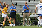 20 September 2009: Duke head coach Robbie Church (right) and assistant coach Carla Overbeck (left) watch second half action. The Duke University Blue Devils played the Louisiana State University Tigers to a 2-2 tie after overtime at Koskinen Stadium in Durham, North Carolina in an NCAA Division I Women's college soccer game.