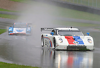 The #59 Porsche Fabcar of JC France, Hurley Haywood and Lucas Luhr races through the rain at the 6 Heueres du Circuit Mont-Tremblant in Mont-Tremblant, Quebec, Canada, on Saturday, May 21, 2005. (Photo by Brian Cleary/www.bcpix.com)