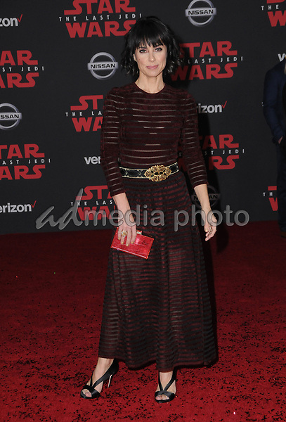 """09 December  2017 - Los Angeles, California - Constance Zimmer. Premiere Of Disney Pictures And Lucasfilm's """"Star Wars: The Last Jedi"""" held at The Shrine Auditorium  in Los Angeles Photo Credit: Birdie Thompson/AdMedia"""