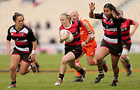 Action from the 2018 Farah Palmer Cup rugby match between Canterbury and Counties Manukau at Christchurch Stadium in Christchurch, New Zealand on Sunday, 30 September 2018. Photo: Martin Hunter / lintottphoto.co.nz