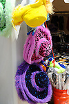 Colorful brimmed hats at Cheshire Fair in Swanzey, New Hampshire USA