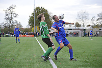 VOETBAL: HEERENVEEN: 07-11-2015, Heerenveense Boys - Zwaagwesteinde, uitslag 2-3, Matthijs Bakker (#6), Rene Nauta (#10), ©foto Martin de Jong