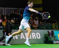 Rotterdam, The Netherlands, 12 Februari 2019, ABNAMRO World Tennis Tournament, Ahoy, first round doubles: Joe Salisbury (GBR),<br /> Photo: www.tennisimages.com/Henk Koster