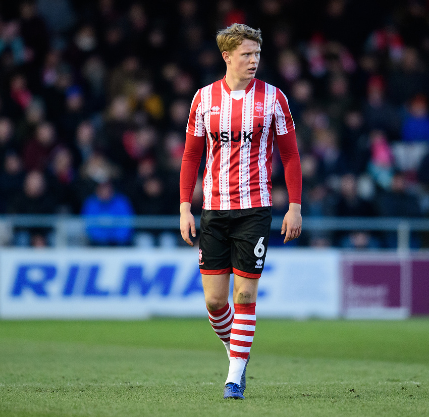 Lincoln City's Mark O'Hara<br /> <br /> Photographer Chris Vaughan/CameraSport<br /> <br /> The EFL Sky Bet League Two - Lincoln City v Northampton Town - Saturday 9th February 2019 - Sincil Bank - Lincoln<br /> <br /> World Copyright © 2019 CameraSport. All rights reserved. 43 Linden Ave. Countesthorpe. Leicester. England. LE8 5PG - Tel: +44 (0) 116 277 4147 - admin@camerasport.com - www.camerasport.com