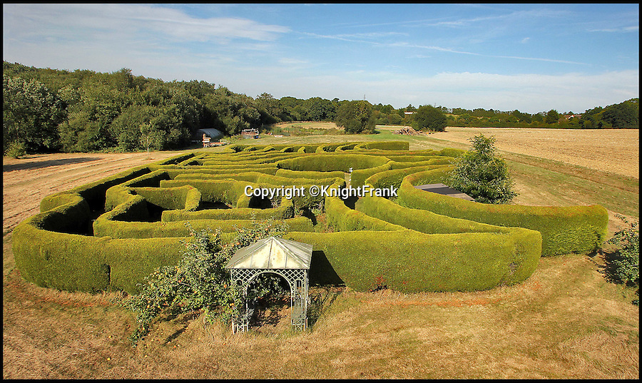 BNPS.co.uk (01202 558833)<br /> Pic: KnightFrank/BNPS<br /> <br /> Get lost... the eight foot high maze.<br /> <br /> The owners of this luxury property that has gone on the market can really tell nuisance callers to get lost - as it comes with its very own maze.<br /> <br /> Badsell Park Farm, near the village of Matfield, Kent, has 96 acres of land that includes the 8ft tall maze that covers an area of 12,000 sq ft.<br /> <br /> The 18th century property is valued at &pound;2.6million.