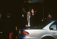 John Major, Prime Minister of the United Kingdom, from 1990-1997, makes an appaerance in Wellington, New Zealand in 1995 during the Commonwealth Heads of Government Meeting.
