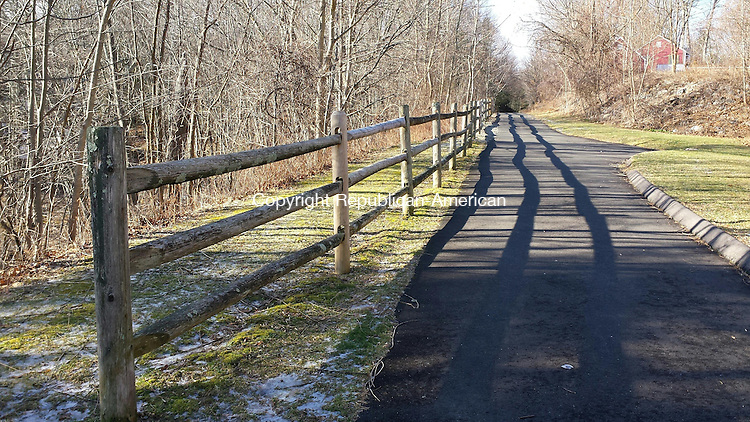 MIDDLEBURY, CT --- 20 Jan. 2015: 012015BB01 ---- Parks & Recreation Director Betty Proulx says there is no winter maintenance along the Middlebury Greenway, so walkers may use it at their own risk. Bill Bittar Republican-American