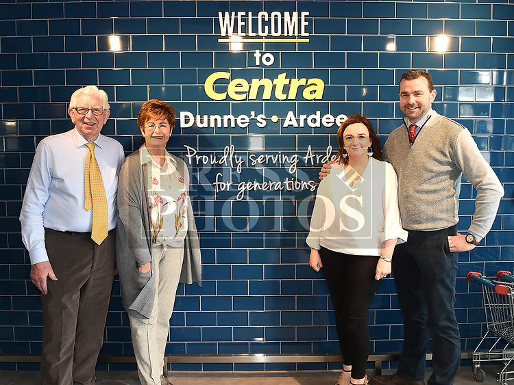 Gary Dunne, his wife Pauline, and his parents Bryan and Mary at the opening Dunne's Centra Ardee. Photo:Colin Bell/pressphotos.ie