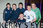 Brainiacs l-r: Lucas O'Sullivan, Sam Casey, Peter O'Shea, Evan Mannix, Darragh Doolan, Erin Moloney at the Monastry NS table quiz in the Killarney Oaks Hotel on Saturday night