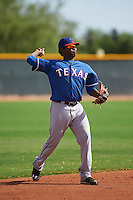Texas Rangers Juremi Profar (24) during an instructional league game against the Seattle Mariners on October 5, 2015 at the Surprise Stadium Training Complex in Surprise, Arizona.  (Mike Janes/Four Seam Images)
