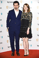 Damien Chazelle and Emma Stone<br /> at the 2017 BAFTA Film Awards Nominees party held at Kensington Palace, London.<br /> <br /> <br /> &copy;Ash Knotek  D3224  11/02/2017