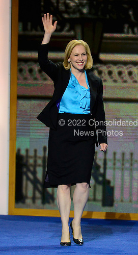"United States Senator Kirsten Gillibrand (Democrat of New York) arrives for a ""Women of the United States Senate"" event at the 2012 Democratic National Convention in Charlotte, North Carolina on Wednesday, September 5, 2012.  .Credit: Ron Sachs / CNP.(RESTRICTION: NO New York or New Jersey Newspapers or newspapers within a 75 mile radius of New York City)"