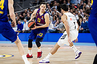 Facundo Campazzo of Real Madrid and Thomas Heurtel of FC Barcelona Lassa during Turkish Airlines Euroleague match between Real Madrid and FC Barcelona Lassa at Wizink Center in Madrid, Spain. December 13, 2018. (ALTERPHOTOS/Borja B.Hojas) /NortePhoto.com
