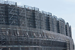A view of the new National Stadium under construction on August 31, 2018, Tokyo, Japan. The new stadium will host the 2020 Tokyo Olympic and Paralympic Games. (Photo by Rodrigo Reyes Marin/AFLO)