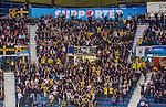 Stockholm 2014-09-11 Ishockey Hockeyallsvenskan AIK - S&ouml;dert&auml;lje SK :  <br /> AIK:s supportrar p&aring; l&auml;ktaren under matchen <br /> (Foto: Kenta J&ouml;nsson) Nyckelord:  AIK Gnaget Hockeyallsvenskan Allsvenskan Hovet Johanneshovs Isstadion S&ouml;dert&auml;lje SK SSK supporter fans publik supporters