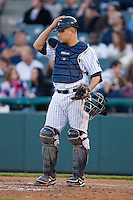 Catcher Kyle Anson #35 of the Trenton Thunder at Waterfront Park May 12, 2009 in Trenton, New Jersey. (Photo by Brian Westerholt / Four Seam Images)
