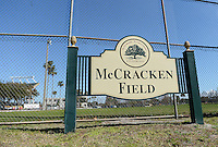 McCracken Field, across the street from Tinker Field, is a location proposed to rebuild the old spring training and minor league stadium due to renovations at the Citrus Bowl;  February 19, 2014 at Tinker Field in Orlando, Florida.  (Mike Janes/Four Seam Images)