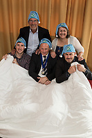 CEO Sleep Out - Back row are John Collins of PCA Adler and Deborah Labbate of Deborah Labbate Business Solutions, while front row are Ross Davies of Strafe Creative, Ian Roberts of SLR Consulting and Simon Gray of Pembridge Gray