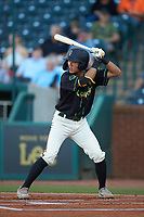 Ji-Hwan Bae (51) of the Ocelotes de Greensboro at bat against the Hickory Crawdads at First National Bank Field on June 11, 2019 in Greensboro, North Carolina. The Crawdads defeated the Ocelotes 2-1. (Brian Westerholt/Four Seam Images)