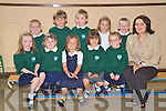 Junior infants at Kilgobnet National School, Beaufort, Tara Foley, Ellie O'Leary, Ella Doyle, Eliza Turc, Emma Kissane, Gary O'Sullivan, Nicolas Doyle, Eoin O'Sullivan, Ciara Cronin and Josh Lynch with their teacher Una White, last week.