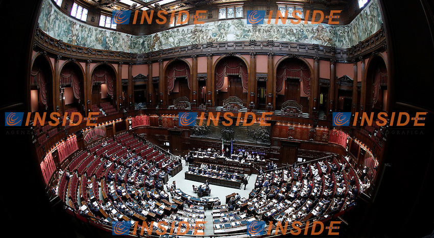 Una Panoramica dell'Aula.Roma 05/07/2012 Camera dei Deputati - Informativa urgente del Governo sugli esiti del Consiglio europeo del 28-29 giugno.Foto Serena Cremaschi Insidefoto