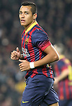 08.01.2014 Barcelona, Spain. Spanish Cup 1/8 Final. Picture show Alexis Sanchez  in action during game between FC Barcelona against Getafe at Camp Nou