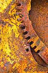 Abstract close-up of rusty wheel and gear