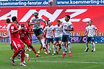 Joshua Sargent (Werder Bremen #19), Karim Onisiwo (FSV Mainz 05 #21), Davy Klaassen (Werder Bremen #30), Theodor Gebre Selassie (Werder Bremen #23), Milos Veljkovic (Werder Bremen #13), Christian Groß / Gross (Werder Bremen #36)<br /> <br /> <br /> Sport: nphgm001: Fussball: 1. Bundesliga: Saison 19/20: 33. Spieltag: 1. FSV Mainz 05 vs SV Werder Bremen 20.06.2020<br /> <br /> Foto: gumzmedia/nordphoto/POOL <br /> <br /> DFL regulations prohibit any use of photographs as image sequences and/or quasi-video.<br /> EDITORIAL USE ONLY<br /> National and international News-Agencies OUT.