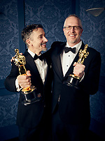 Oscar® winners Stuart Wilson and Mark Taylor during the 92nd Oscars® on Sunday, February 9, 2020 at the Dolby Theatre® in Hollywood, CA, televised live by the ABC Television Network.<br /> *Editorial Use Only*<br /> CAP/AMPAS<br /> Supplied by Capital Pictures