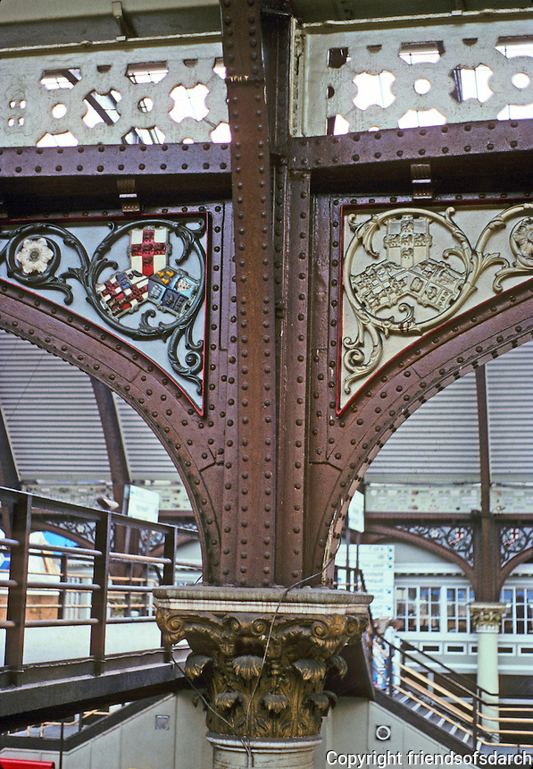 York: York Station--Corinthian columns. Photo '87.
