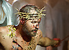 Jesus Christ Superstar <br /> by Tim Rice &amp; Andrew Lloyd Webber <br /> at The Regent's Park Open Air Theatre, London, Great Britain <br /> press photocall<br /> 19th July 2016 <br /> <br /> Declan Bennett as Jesus <br /> <br /> <br /> <br /> Photograph by Elliott Franks <br /> Image licensed to Elliott Franks Photography Services