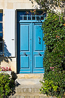 Traditional double door, Ile De Re, France.