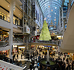 Stock photo of Christmas decoration in a shopping mall Toronto Eaton Centre One of the largest shopping malls in North America Toronto Ontario Canada Dec 2007 This image is available in higher resolution up to 12000 pixels long