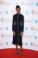 Letitia Wright<br /> at the photocall for BAFTA Film Awards 2018 nominations announcement, London<br /> <br /> <br /> &copy;Ash Knotek  D3367  09/01/2018