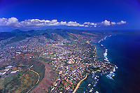 An aerial view of the Waialae-Kahala area of Oahu