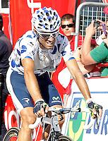 Alejandro Valverde during the stage of La Vuelta 2012 between Palas de Rei and Puerto de Ancares.September 1,2012. (ALTERPHOTOS/Acero) /Nortephoto.com<br /> <br /> **CREDITO*OBLIGATORIO** <br /> *No*Venta*A*Terceros*<br /> *No*Sale*So*third*<br /> *** No*Se*Permite*Hacer*Archivo**<br /> *No*Sale*So*third*