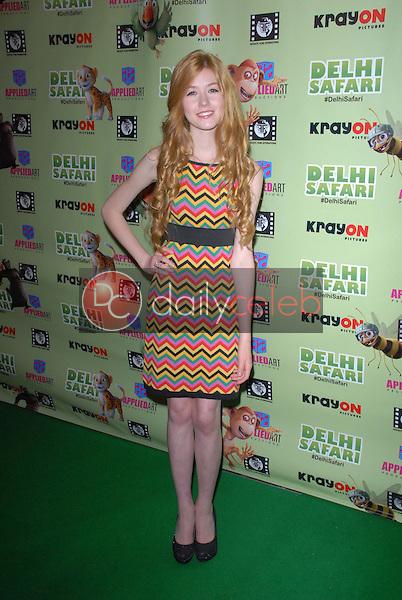 """Katherine McNamara<br /> at the """"Delhi Safari"""" North American Premiere, Pacific Theaters, Los Angeles, CA 12-03-12<br /> David Edwards/DailyCeleb.com 818-249-4998"""