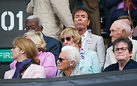 Sir Cliff Richard in attendance with Trevor McDonald<br /> <br /> Photographer Ashley Western/CameraSport<br /> <br /> Wimbledon Lawn Tennis Championships - Day 11 - Friday 14th July 2017 -  All England Lawn Tennis and Croquet Club - Wimbledon - London - England<br /> <br /> World Copyright &copy; 2017 CameraSport. All rights reserved. 43 Linden Ave. Countesthorpe. Leicester. England. LE8 5PG - Tel: +44 (0) 116 277 4147 - admin@camerasport.com - www.camerasport.com