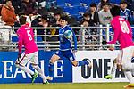 Ulsan Hyundai Forward Kim Seungjun (C) in action during their AFC Champions League 2017 Playoff Stage match between Ulsan Hyundai FC (KOR) vs Kitchee SC (HKG) at the Ulsan Munsu Football Stadium on 07 February 2017 in Ulsan, South Korea. Photo by Chung Yan Man / Power Sport Images