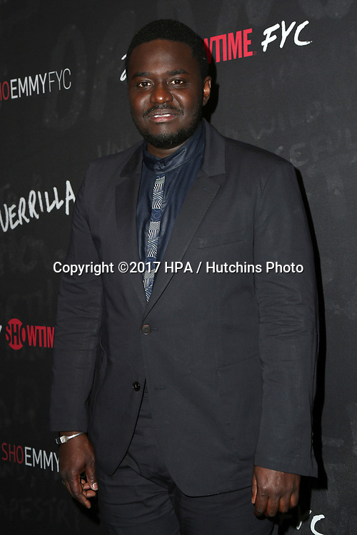 "LOS ANGELES - APR 13:  Babou Ceesay at the ""Guerrilla"" FYC Event at the Writer's Guild of America Theater on April 13, 2017 in Beverly Hills, CA"